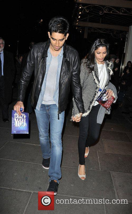 Freida Pinto and Dev Patel leaving Crazy For...