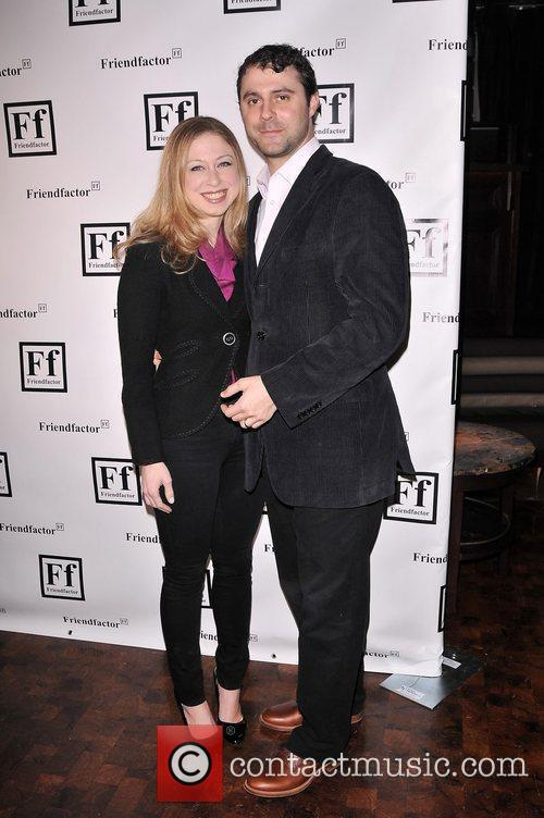 Chelsea Clinton, Marc Mezvinsky at the New York...