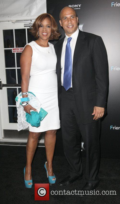 Gayle King and Mayor Cory Booker