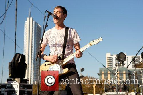 Hutch Harris of The Thermals playing at the...