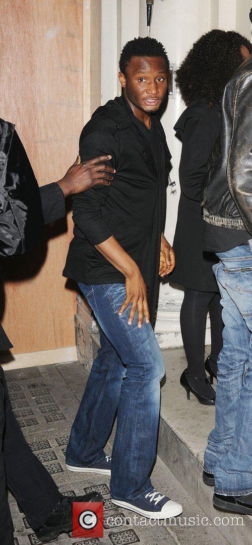 Chelsea footballer John Obi Mikel at Funky Buddha...