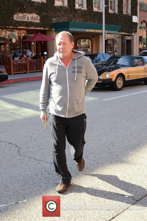 Garry Shandling is seen out about in Beverly...