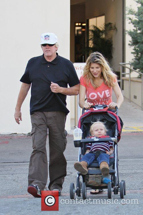 Gary Busey leaving Caffe Roma after having lunch...