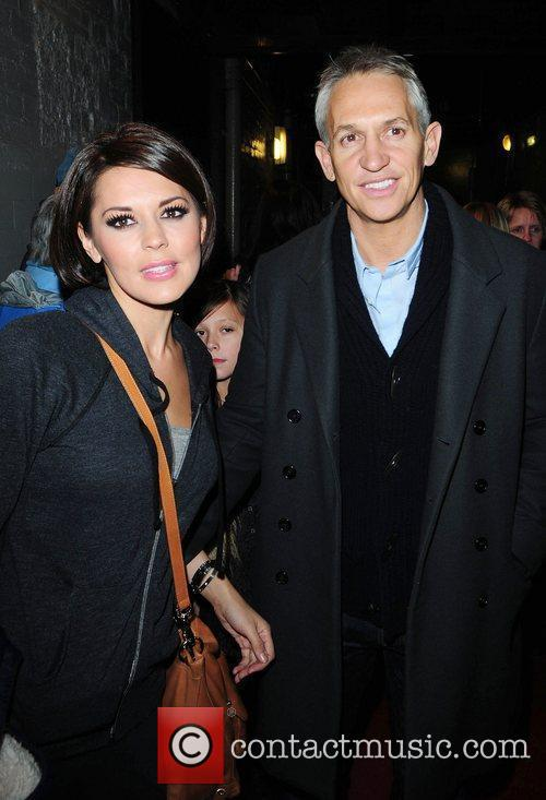Gary and Danielle Lineker outside the Palace Theatre...