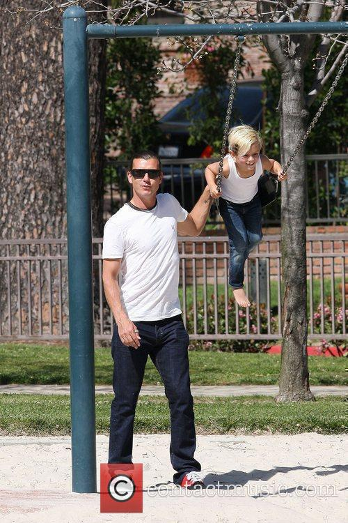 Gavin Rossdale and Kingston Rossdale spend some time...