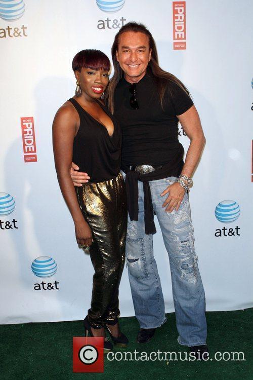 Estelle, Nick Chavez Gay Pride 2011 held at...