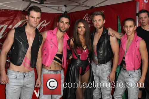 Kat Graham with Her Danseurs Gay Pride 2011...