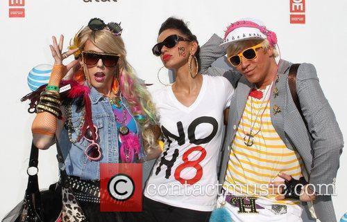 Maya with Jessica and Hunter Gay Pride 2011...