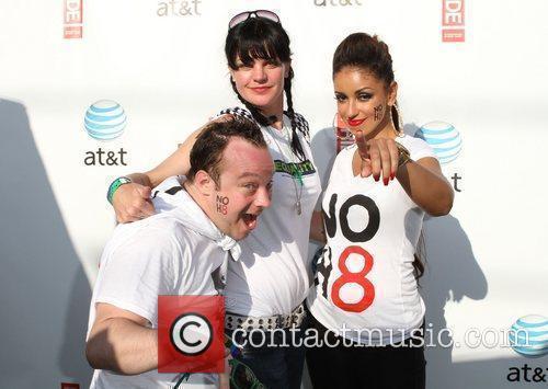 Mike Killmon, Maya, Pauley Perrette Gay Pride 2011...