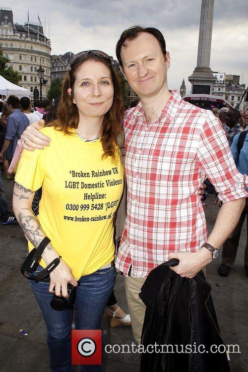 Aimee White from Broken Rainbow and Mark Gatiss...