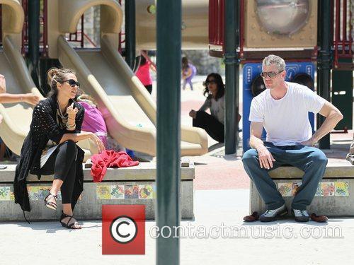 Jessica Alba and Eric Dane chat while enjoying...