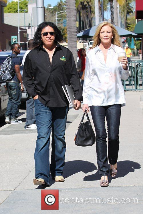 And Shannon Tweed are seen out shopping in...