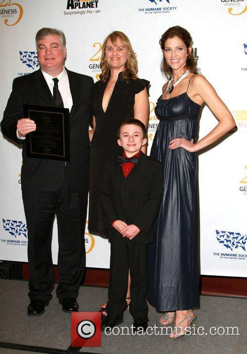 Atticus Shaffer and Tricia Helfer