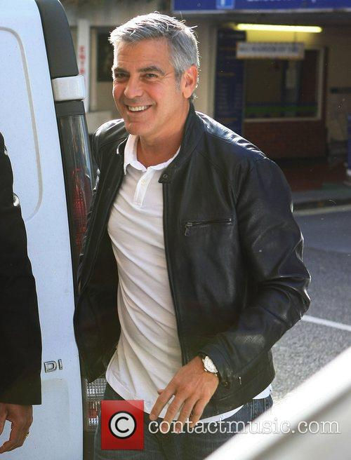 George Clooney arriving at the Odeon Leicester Square