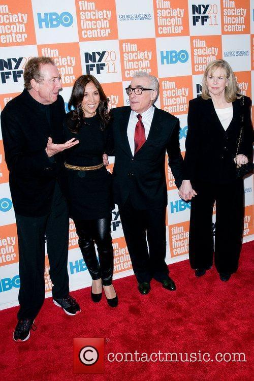 Eric Idle, Martin Scorsese and Olivia Harrison 2