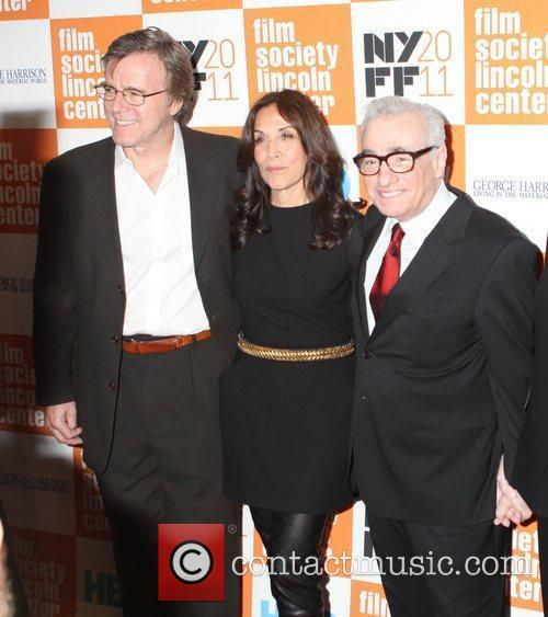 Nigel Sinclair, Olivia Harrison and Martin Scorsese...