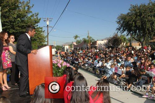 George Lopez George Lopez Auditorium dedication ceremony held...