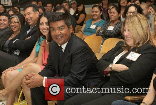 George Lopez, Linda Small George Lopez Auditorium dedication...
