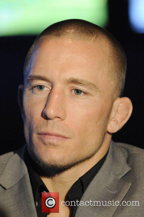 UFC Welterweight Champion Georges St-Pierre  attends a...