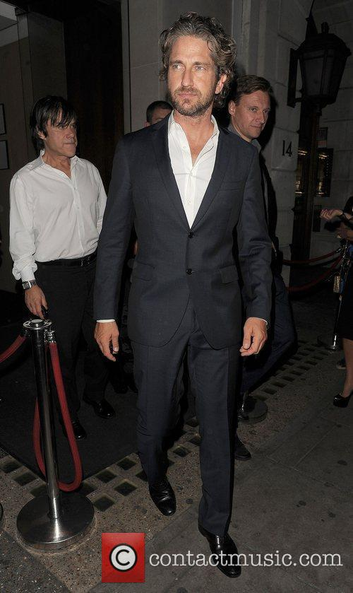 Gerard Butler out and about in Mayfair.