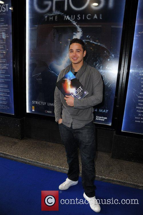 Adam Thomas  arrives for the world premiere...