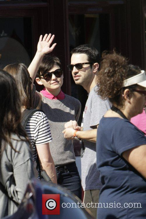 Ginnifer goodwin and a friend spend the day...