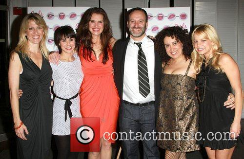 Constance Zimmer, Brooke Shields and Roger Kumble