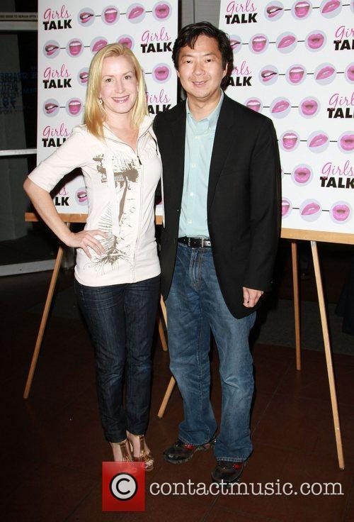 Angela Kinsey and Ken Jeong The opening night...