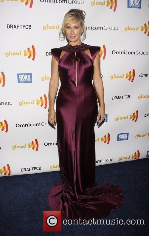 Sonja Morgan wearing Marc Bouwer The 2011 GLAAD...