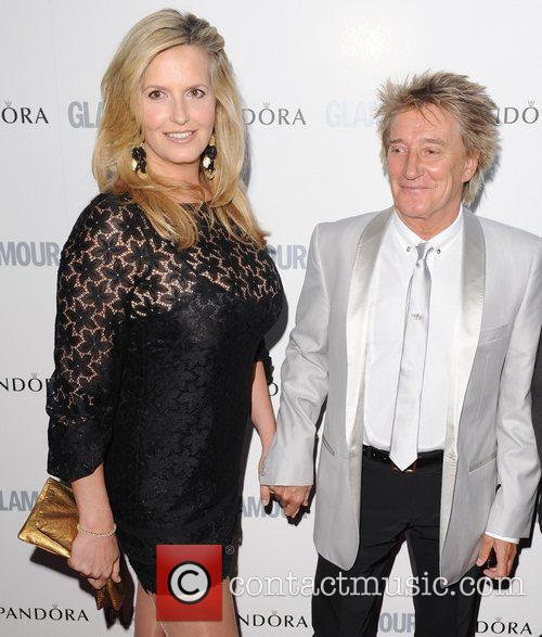 Penny Lancaster and Rod Stewart at the Glamour...