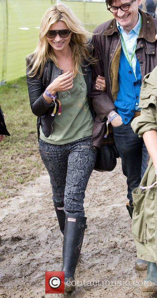 Kate Moss at The 2011 Glastonbury Music Festival...