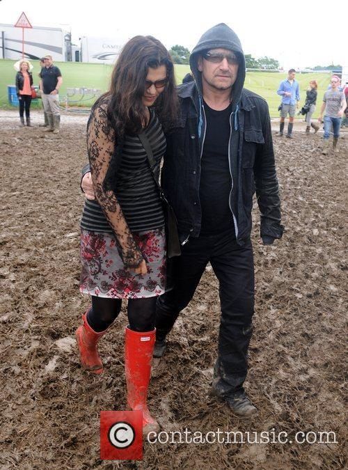 Bono and his wife Ali Hewson at The...