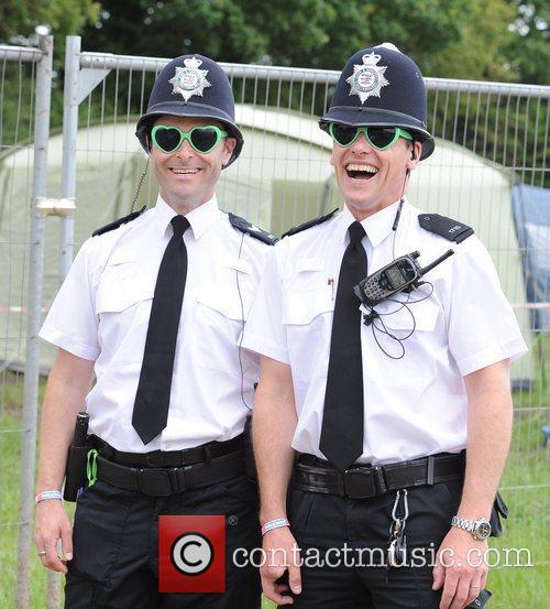 Atmosphere at The 2011 Glastonbury Music Festival held...