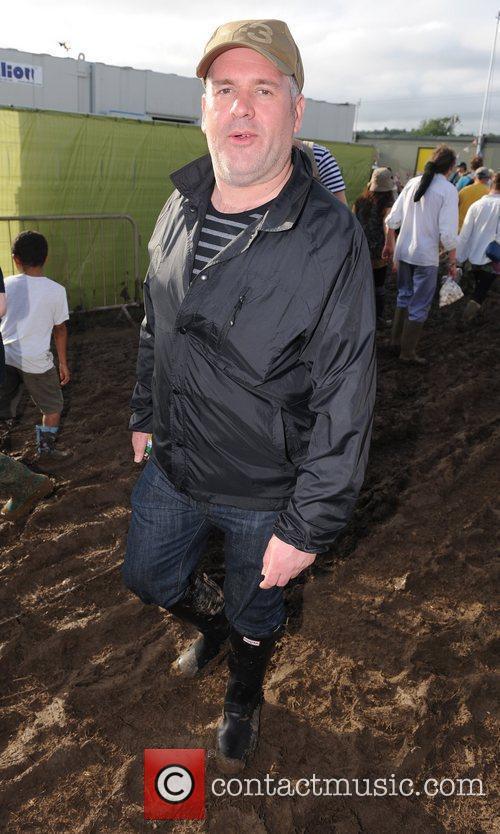 Chris Moyles at The 2011 Glastonbury Music Festival...