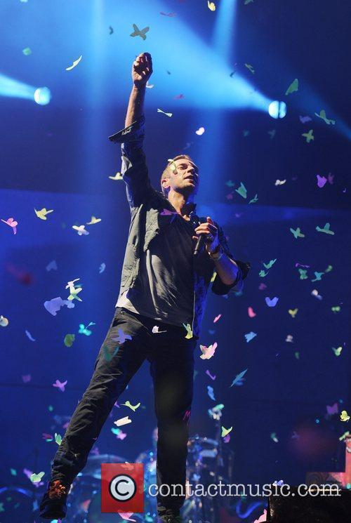 Coldplay The 2011 Glastonbury Music Festival held at...