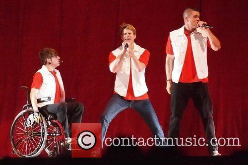 Kevin McHale, Chord Overstreet and Mark Salling...