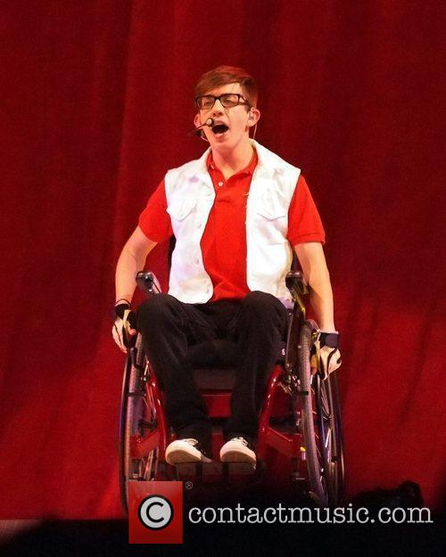Kevin McHale  performs on stage during 'Glee!...