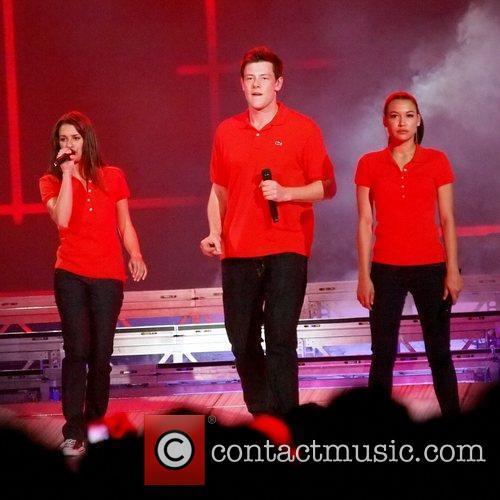 Lea Michele, Cory Monteith and Naya Rivera 3