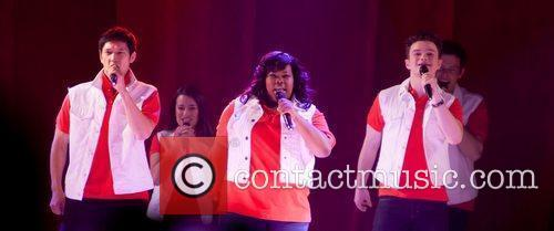 Lea Michele, Amber Riley and Chris Colfer 1