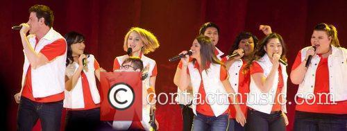 Naya Rivera, Amber Riley, Dianna Agron, Fink, Kevin Mchale and Lea Michele 3