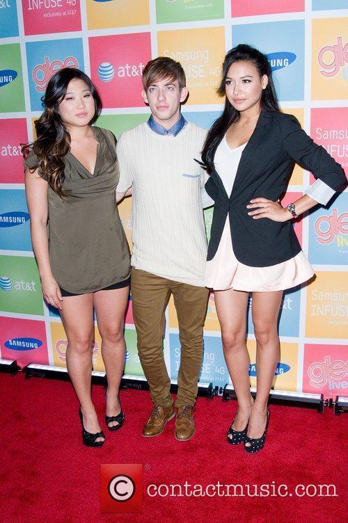 Jenna Ushkowitz, Kevin McHale and Naya Rivera The...