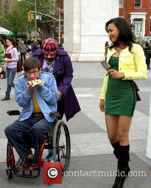 Amber Riley, Kevin Mchale and Naya Rivera 1