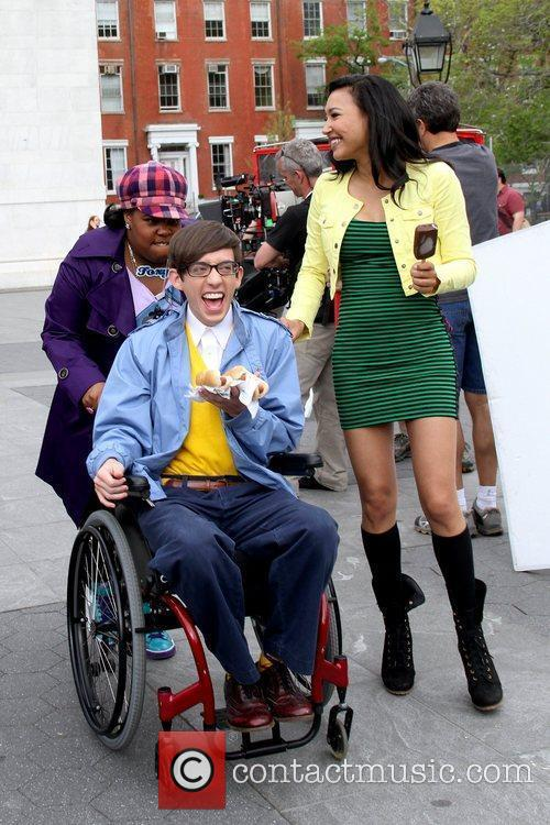 Amber Riley, Kevin Mchale and Naya Rivera 3