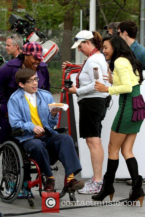 Amber Riley, Kevin Mchale and Naya Rivera 5