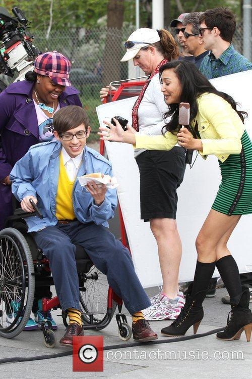 Amber Riley, Kevin Mchale and Naya Rivera 2