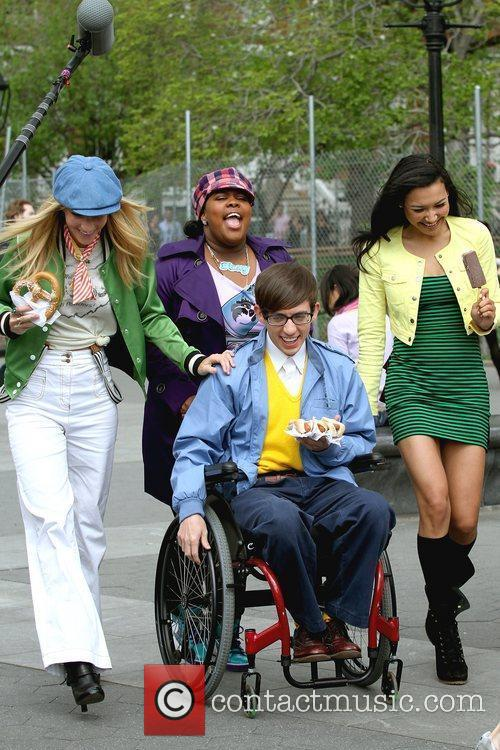Heather Morris, Amber Riley, Kevin Mchale and Naya Rivera 3