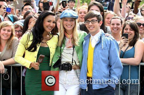Naya Rivera, Heather Morris and Kevin Mchale 4