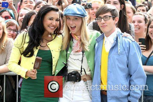 Naya Rivera, Heather Morris and Kevin Mchale 5