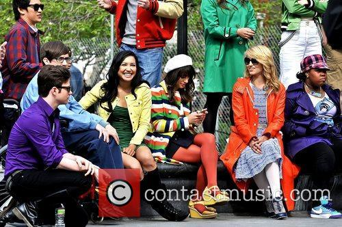 Chris Colfer, Amber Riley, Dianna Agron, Kevin Mchale, Lea Michele and Naya Rivera 2
