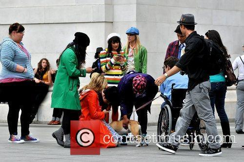 Dianna Agron, Amber Riley, Chris Colfer, Heather Morris, Kevin Mchale and Lea Michele 3